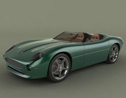 Jaguar XK 180  Concept 3D Model