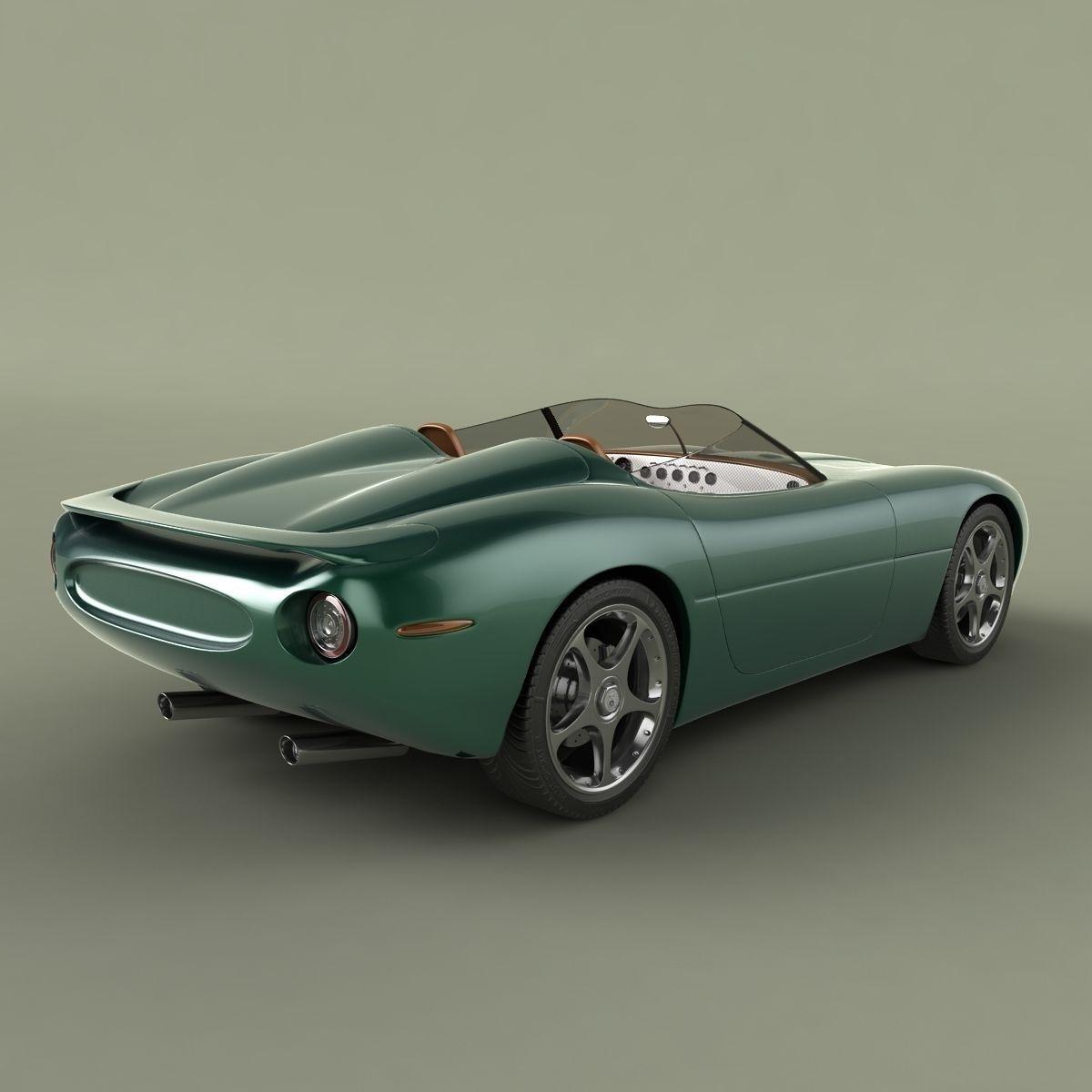 Jaguar XK 180 Concept 3D Model .max .obj .3ds .fbx .c4d ...