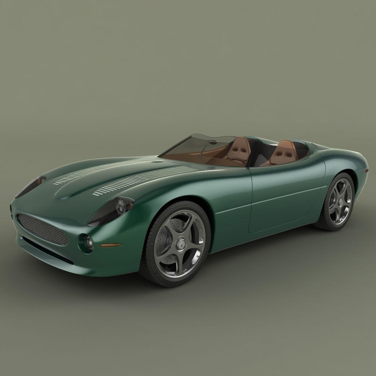 Jaguar XK 180 Concept 3D Model .max .obj .3ds .fbx .c4d - CGTrader.com