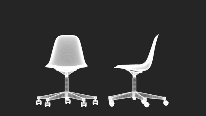 Vitra Eames plastic side chair3D model