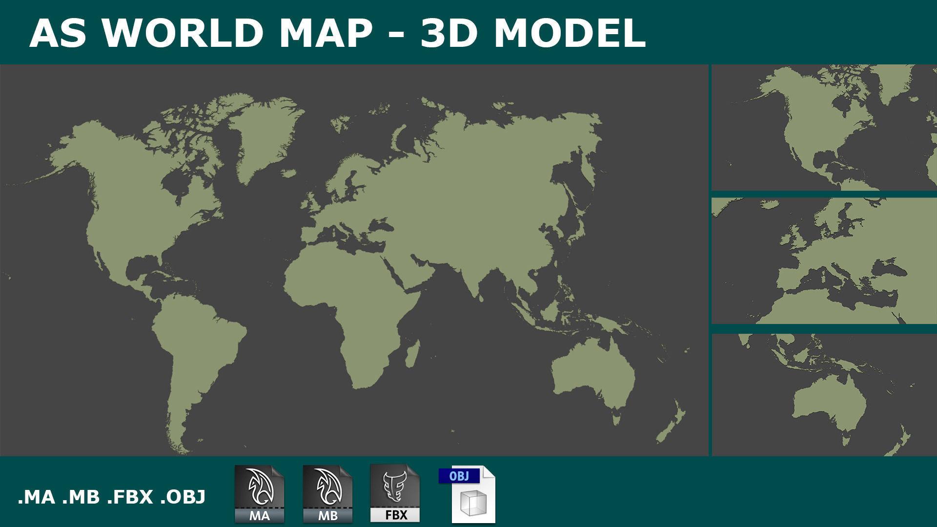 3D WORLD MAP  PLANISPHERE