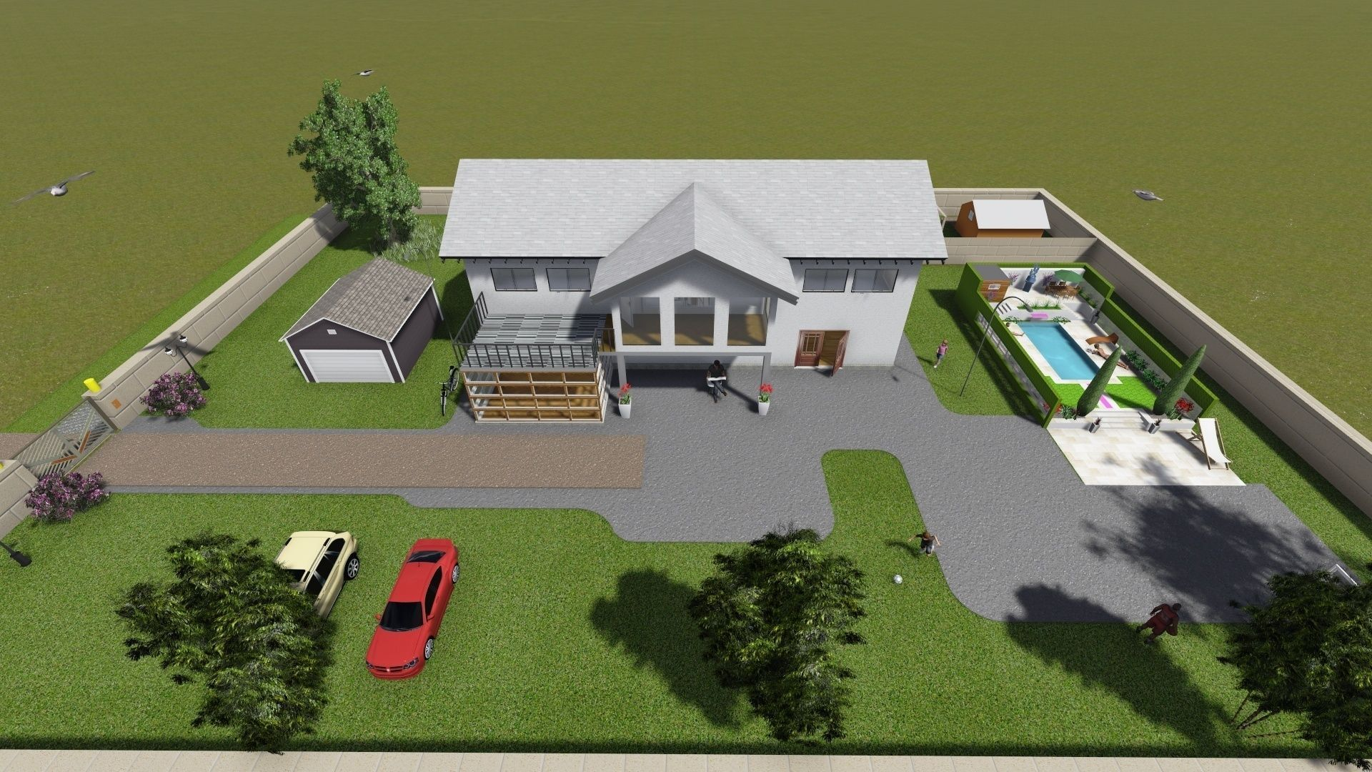 Simple house 3d model skp 4