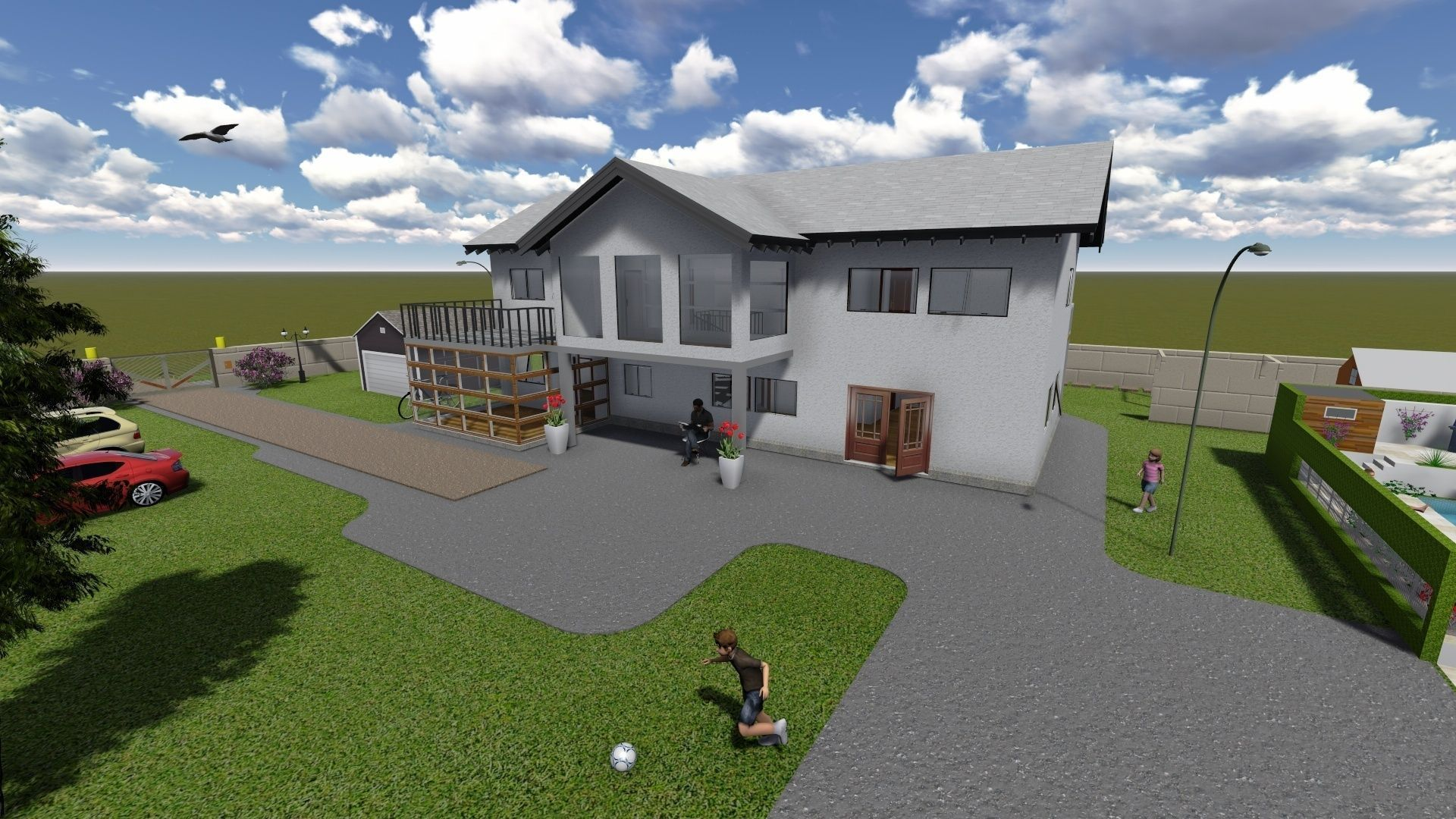 Simple house free 3d model skp for Simple home model