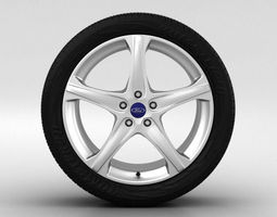 Ford Focus Wheel 18 inch 002 3D Model
