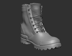 3D asset realtime military Boots