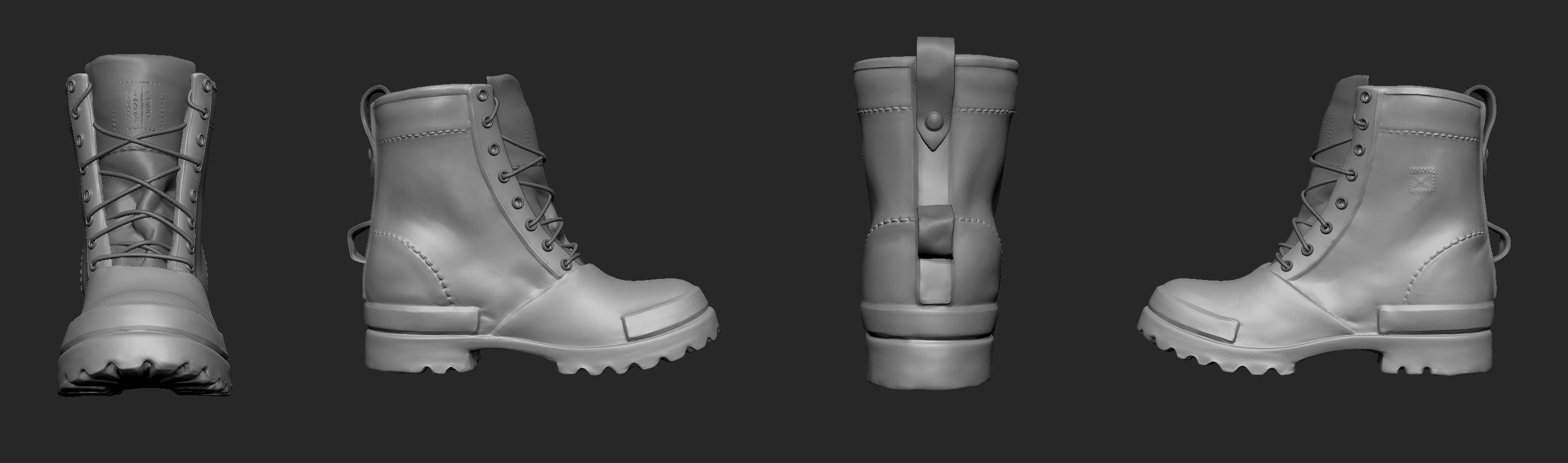Boots 3d model ztl for New model boot