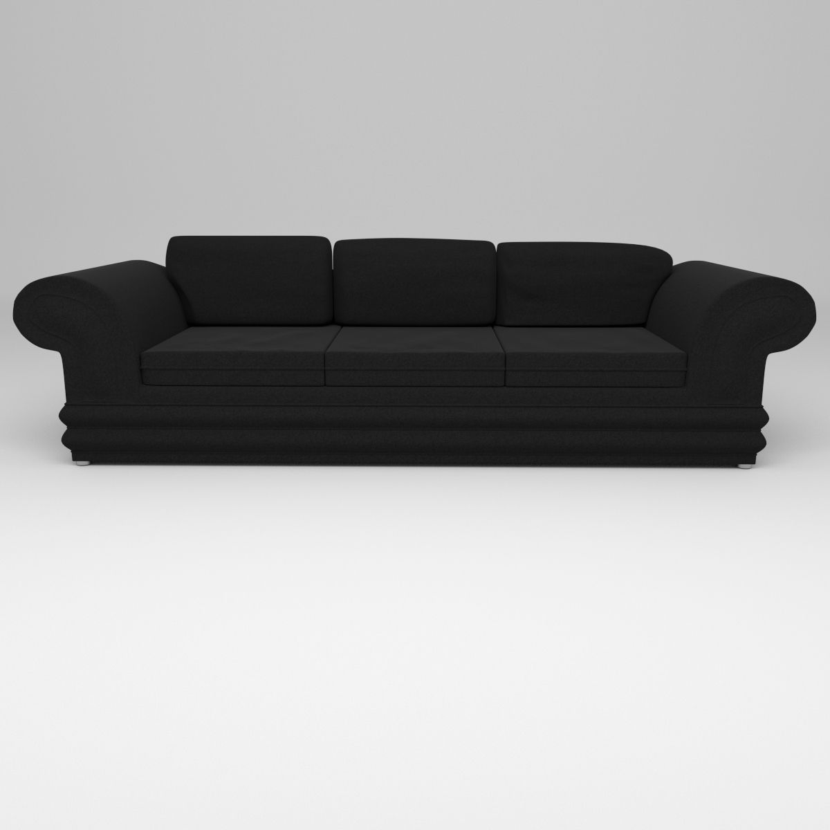 Suede couch 3d model obj 3ds fbx blend for Suede couch
