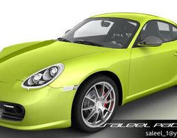 Porsche Cayman R 2012 3D Model