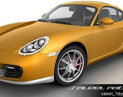 Porsche Cayman S 2012 3D Model