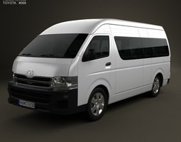 3D model Toyota HiAce Super Long Wheel Base 2012