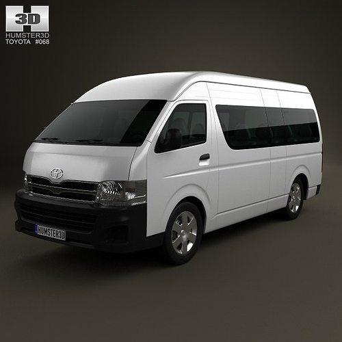 toyota hiace super long wheel base 2012 3d model max obj 3ds fbx c4d lwo lw lws 1