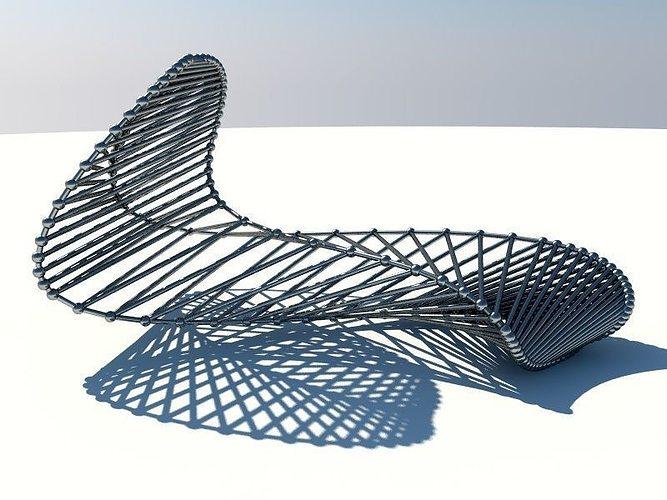 Abstract Modern Metal Sculpture 3d Model Obj 3ds Fbx C4d Stl 4