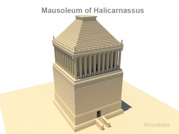 Mausoleum of Halicarnassus 3D Model .obj .3ds .fbx .c4d ...