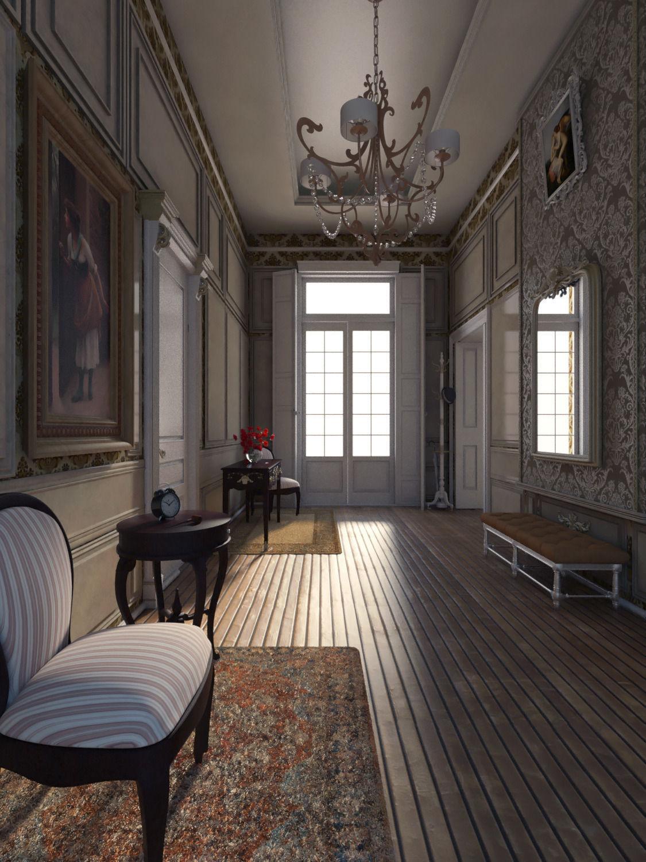 Neoclassical apartment 3d model max for Apartment model