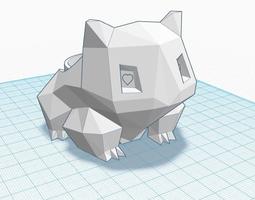 3D print model Low-Poly Bulbasaur Planter