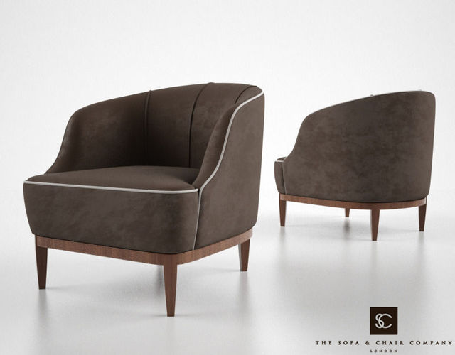 The sofa and chair company lloyd armchair 3d model max for Sofa 3d model
