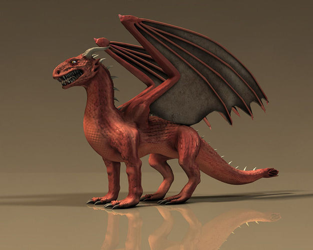 Winged Red Dragon3D model