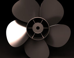 intake propeller 3D model