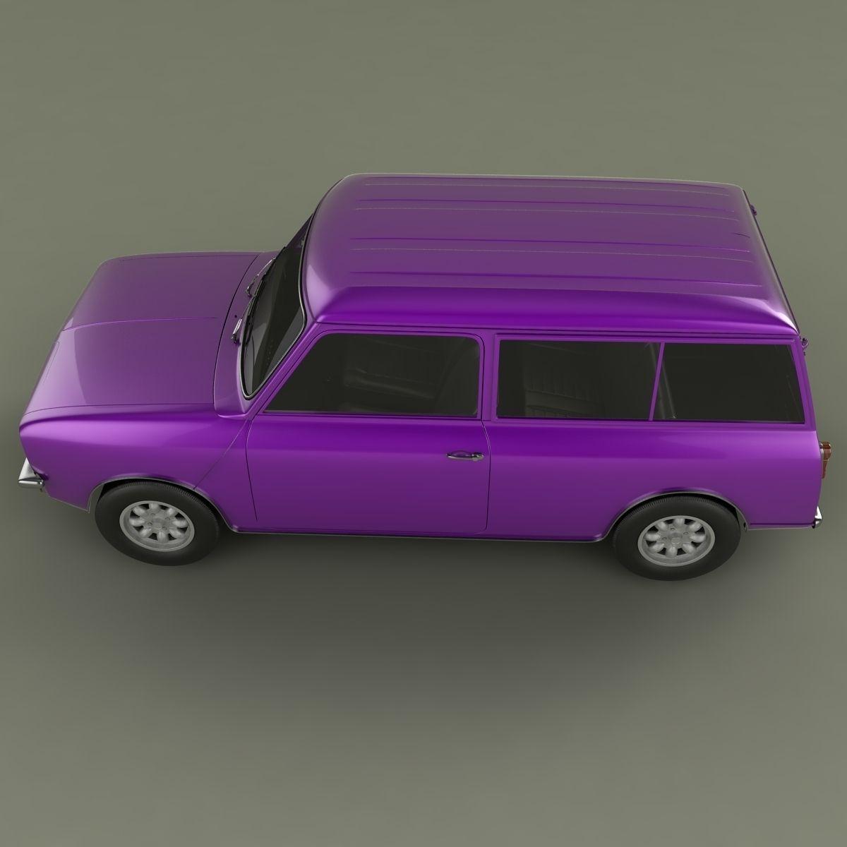 austin mini clubman estate 3d model max obj. Black Bedroom Furniture Sets. Home Design Ideas