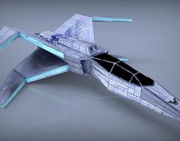 Spaceship Lowpoly  3D Model