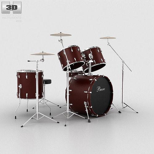 drum kit 3d model max obj mtl 3ds fbx c4d lwo lw lws 1
