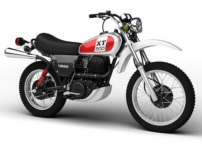 yamaha xt500 1975 3d model max obj mtl 3ds fbx c4d dxf 1