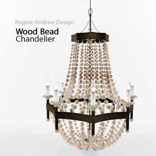 Regina Andrew Lighting Wood Bead Chandelier3D model