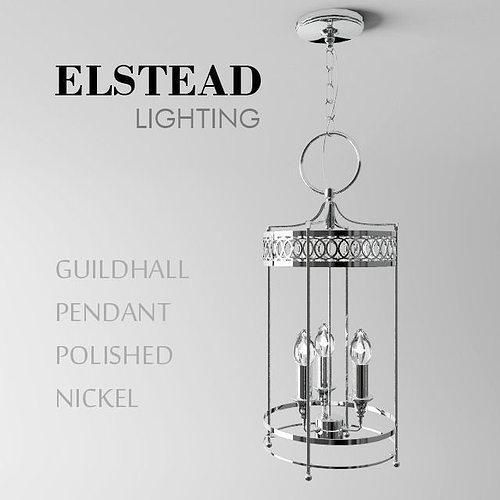 Guildhall Pendant Polished Nickel