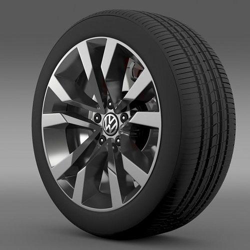 vw beetle tdi 2012 wheel 3d model max obj mtl 3ds fbx c4d lwo lw lws 1