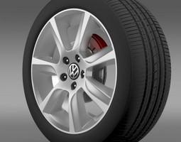 3D VW Polo 2010 Sedan wheel