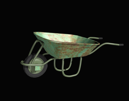 farmer wheelbarrow  3D Model