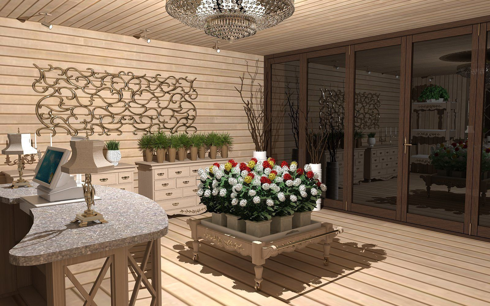 Flower Shop 3D model CGTrader