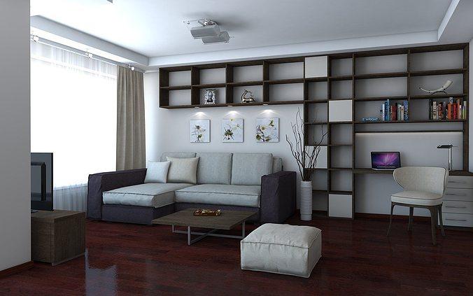 living room 3d model skp 1