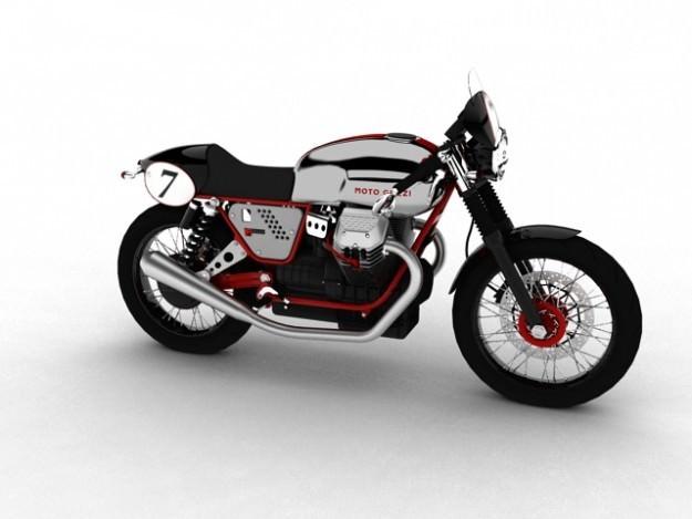 Moto Guzzi V7 Clubman Racer 20103D model