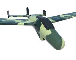 game-ready plane 3d asset