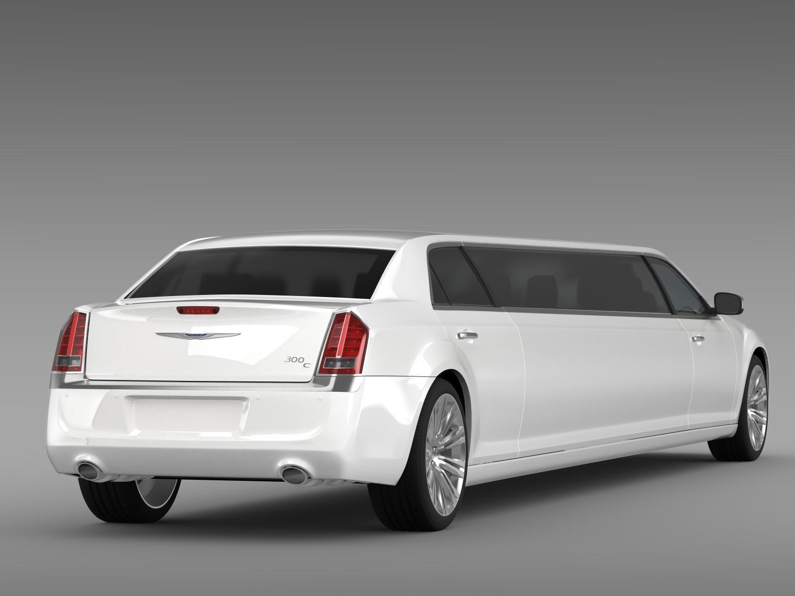 chrysler 300c 2013 limousine 3d model max obj 3ds fbx c4d lwo lw lws. Black Bedroom Furniture Sets. Home Design Ideas