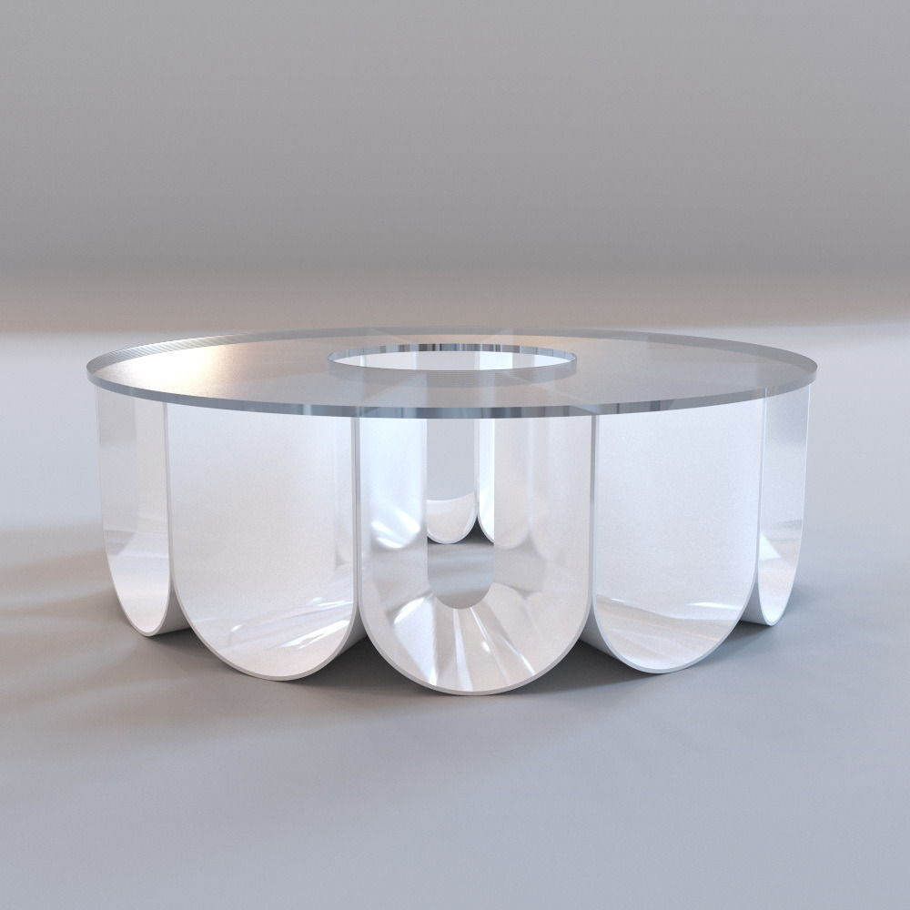 Roche bobois iride coffee table 3d model game ready max Roche bobois coffee table