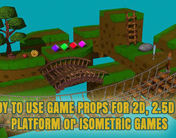 3D Low Poly Platform Game Ready Props   3D Model