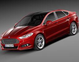 Ford Mondeo Sedan 2015 3D Model