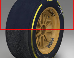 3D model 18 inches Soft front tyre