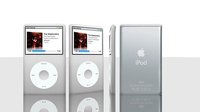 apple ipod  3d model obj mtl 3ds fbx 1