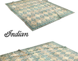 North Indian carpet 3D Model