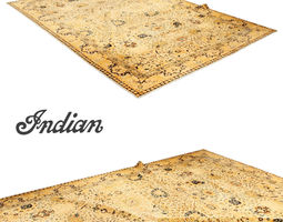 Antique indian rug 3D Model