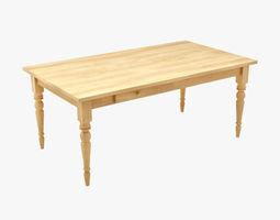 Veneer 3d models for New model wooden dining table