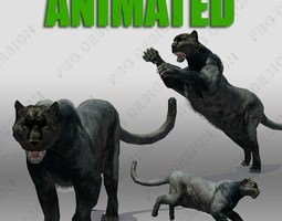 Black Panther Animation 3D Model