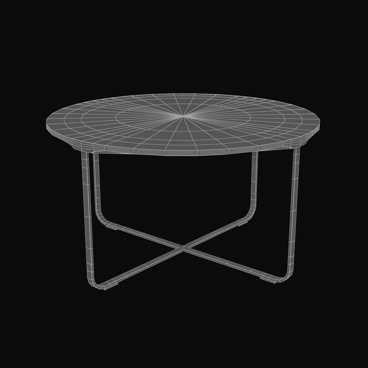 Round silver flint coffee table 3d model max for Table design 3d model