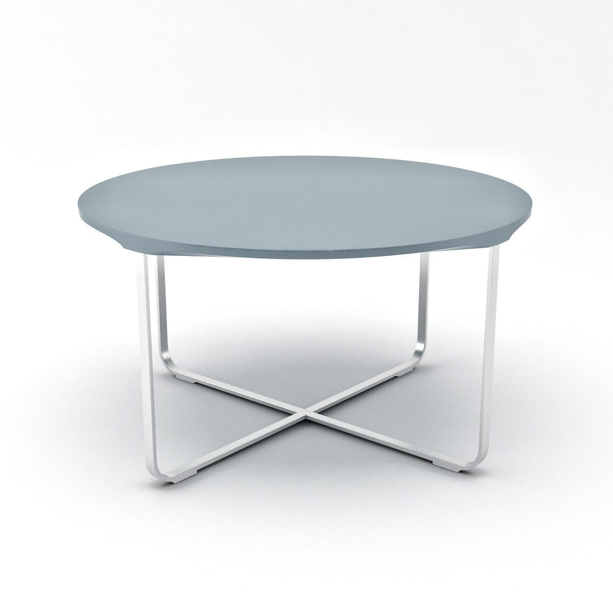 Round Silver Flint Coffee Table 3d Model Max