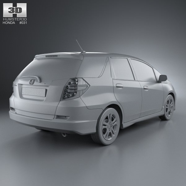 3d honda fit jazz shuttle 2012 cgtrader honda fit jazz shuttle 2012 3d model max obj 3ds fbx c4d lwo lw lws 7 malvernweather Images