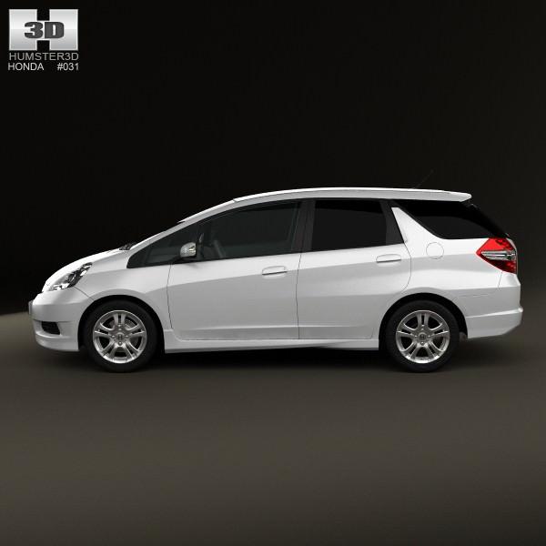 Honda Fit Jazz Shuttle 2012 3D Model .max .obj .3ds .fbx .c4d .lwo .lw .lws - CGTrader.com