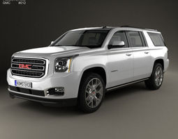 3d model gmc yukon xl 2014